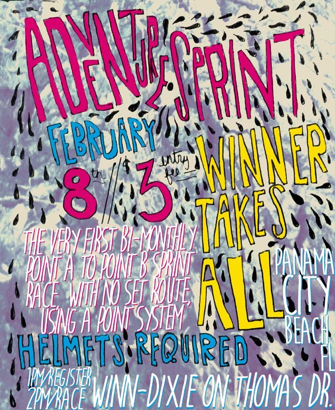 adventure sprint flyer